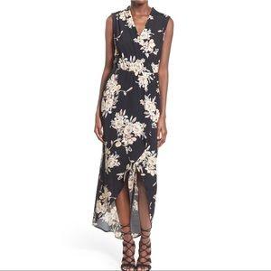 ASTR Floral Wrap Maxi Dress Size M